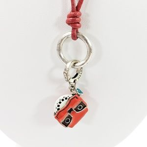 Fossil Necklace Classic Red Viewmaster Retro